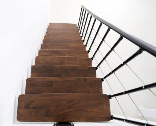 Minka Comfort Walnuss Schwarz Stufen